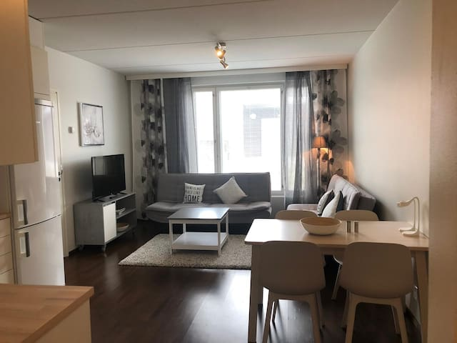 Apartment near Jumbo 47m2 (Sauna, Terrace)