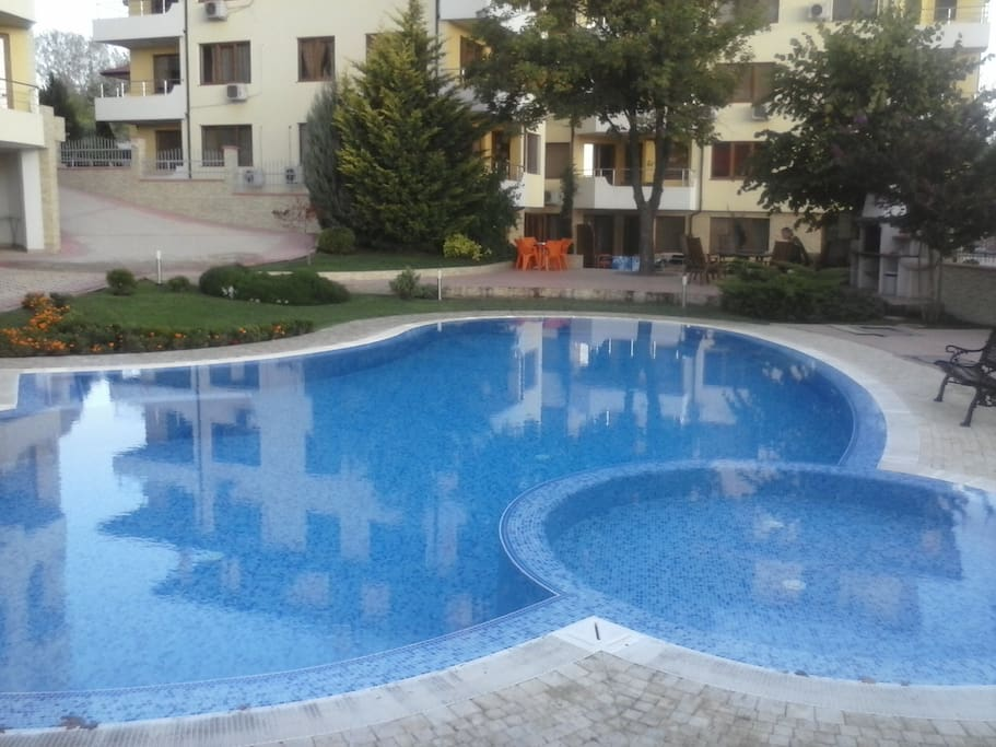 One out of three spacious swimming pools