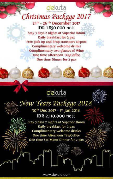 Chrismast and New Years Eve Packages