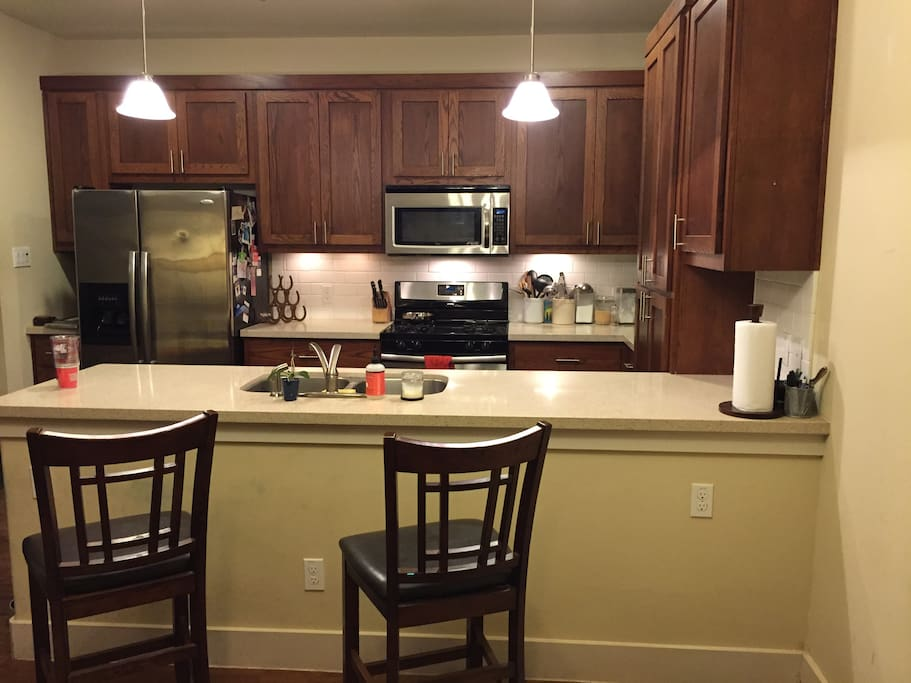 Kitchen area great for visiting