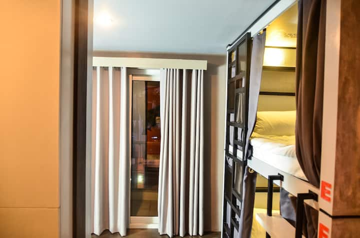 Chic Bunk Beds Room With Balcony Good For Friends