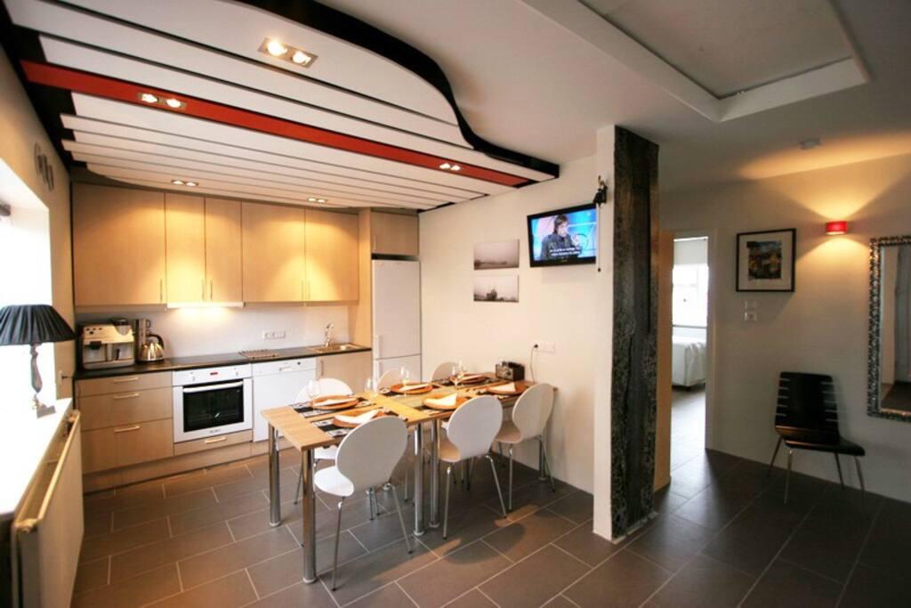 Kitchen / TV area