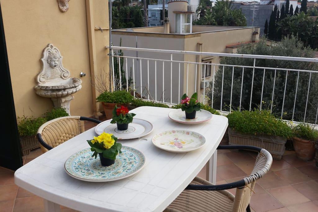 Altra visuale della terrazza