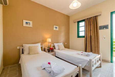 50m from STEGNA beach - Twin Room - Archangelos