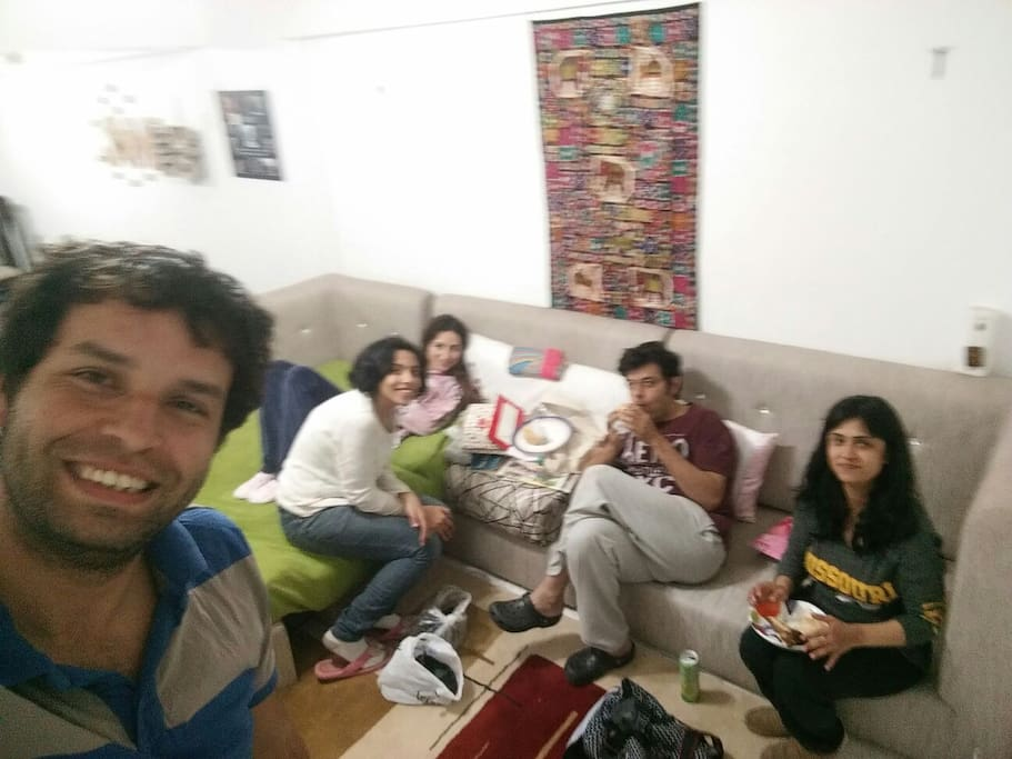 International gathering after coming back from Italy