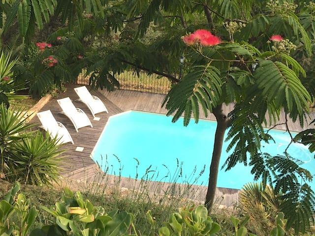 Acceuillante villa aves vue mer et piscine - Vence - Villa