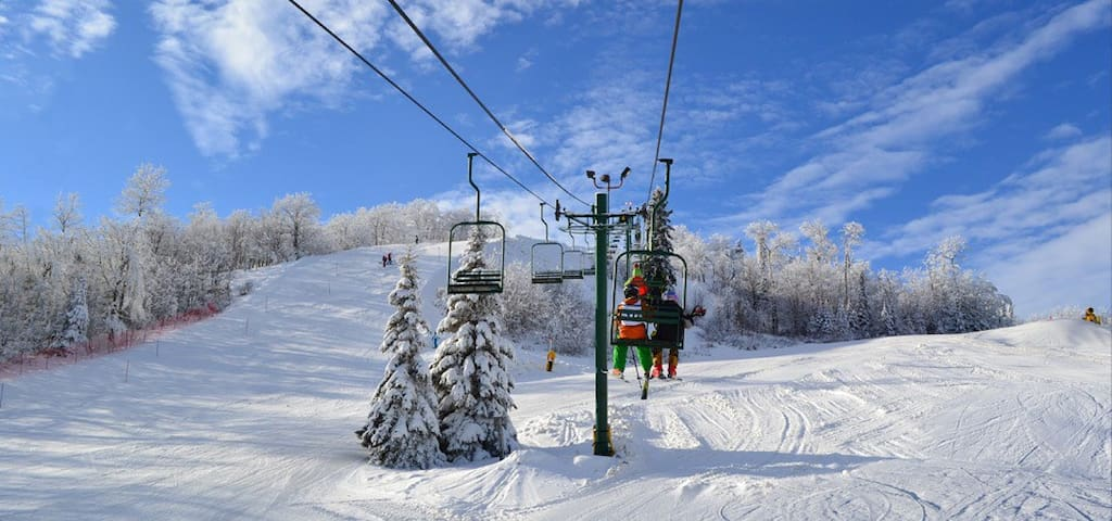 Alpine/crosscountry skiing, snowshoeing, tubing and rock climbing at Giants Ridge Resort, all within walking distance