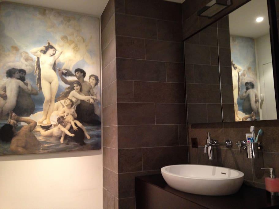 """""""Intriguing"""" bathroom / Un bagno intrigante"""