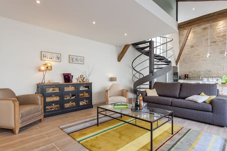 Cosy and stylish LOFT (private garden and garage) - Suippes