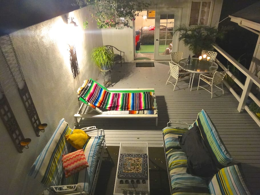 Enjoy the warm California evenings on this great patio