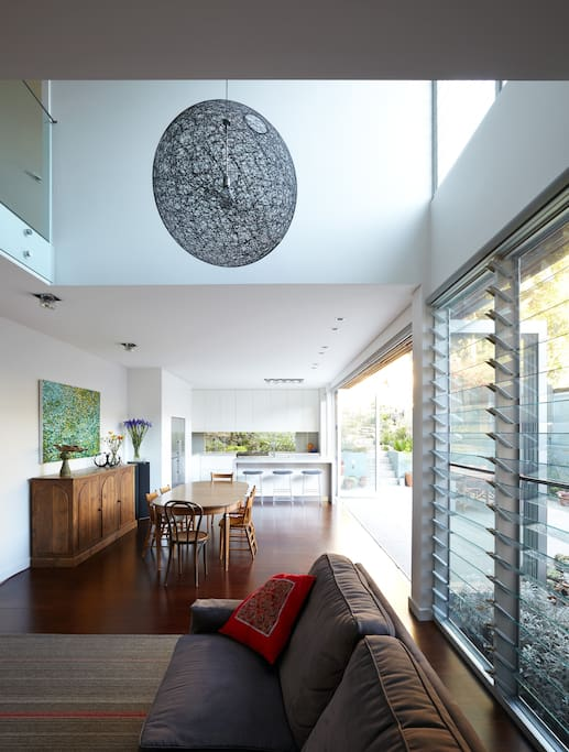Light filled open plan living.