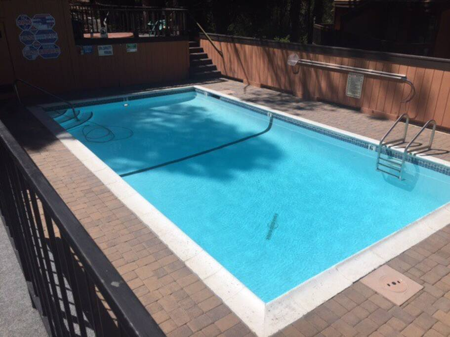 Common area pool for your use! Hot tub too!