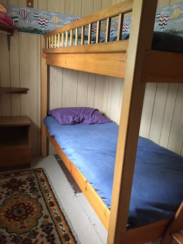 Bedroom with twin bunks