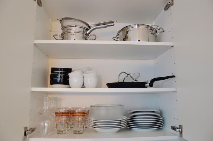 full equipped kitchen - voll ausgestattete Küche