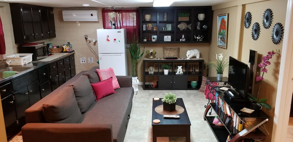 Private bsmnt apartment: 10 min to JFK