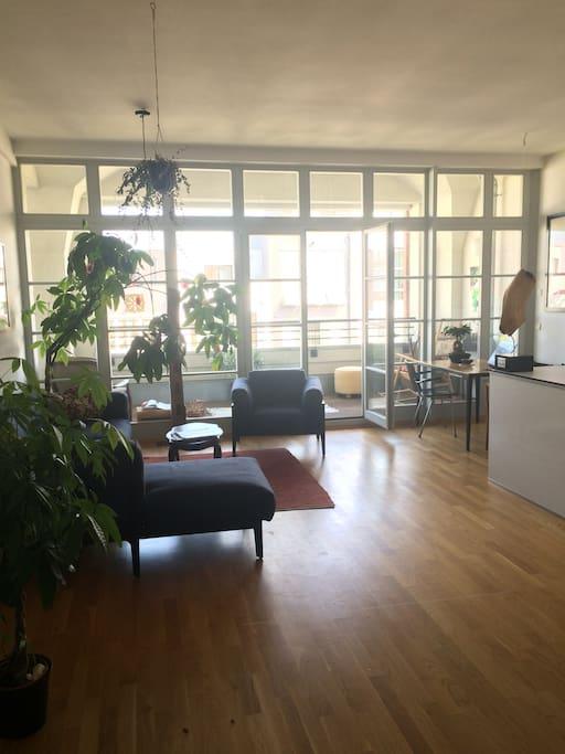 Wohnbereich mit Loftcharakter