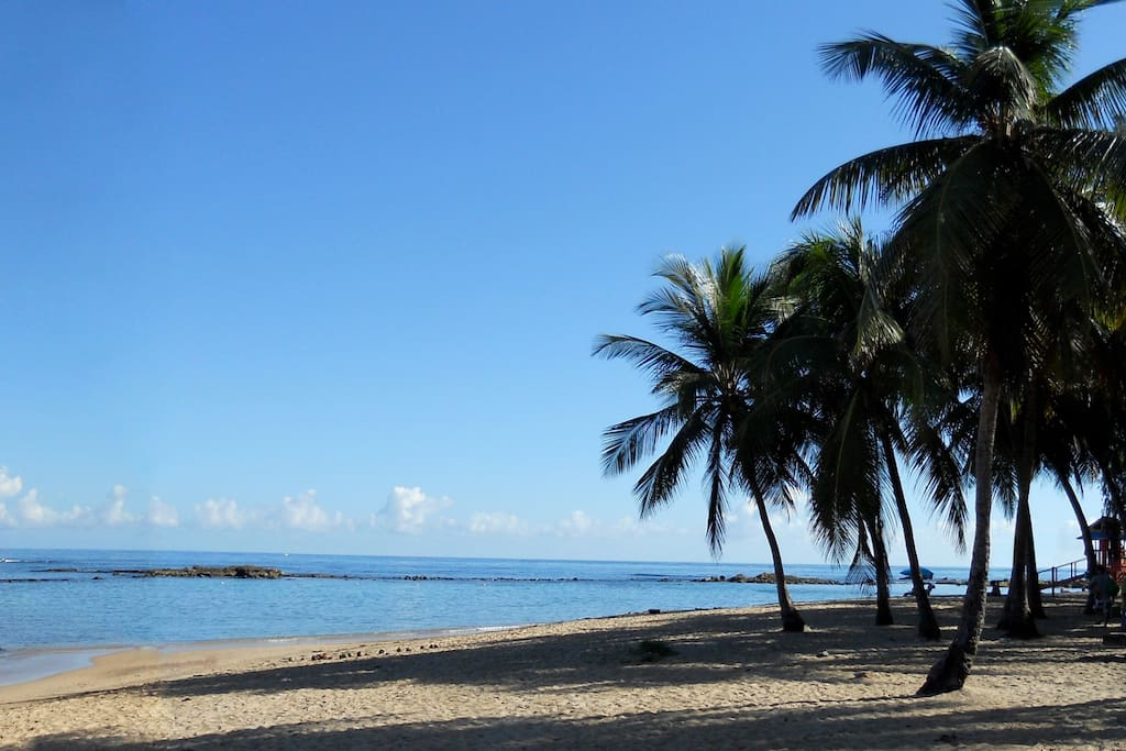 Escambron Beach, only one block from the property
