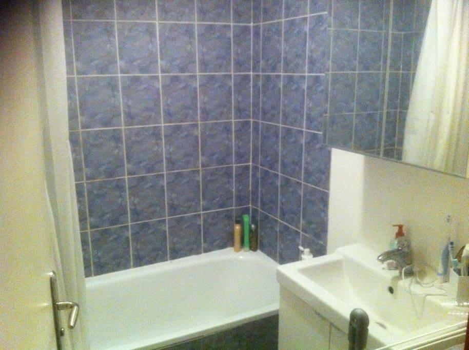The bathroom (with a bath)