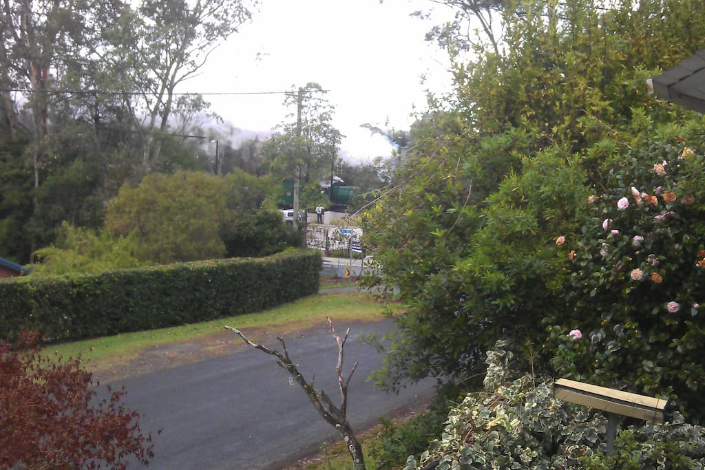 A view from the bedroom to the Village and Glenbrook Railway Station.