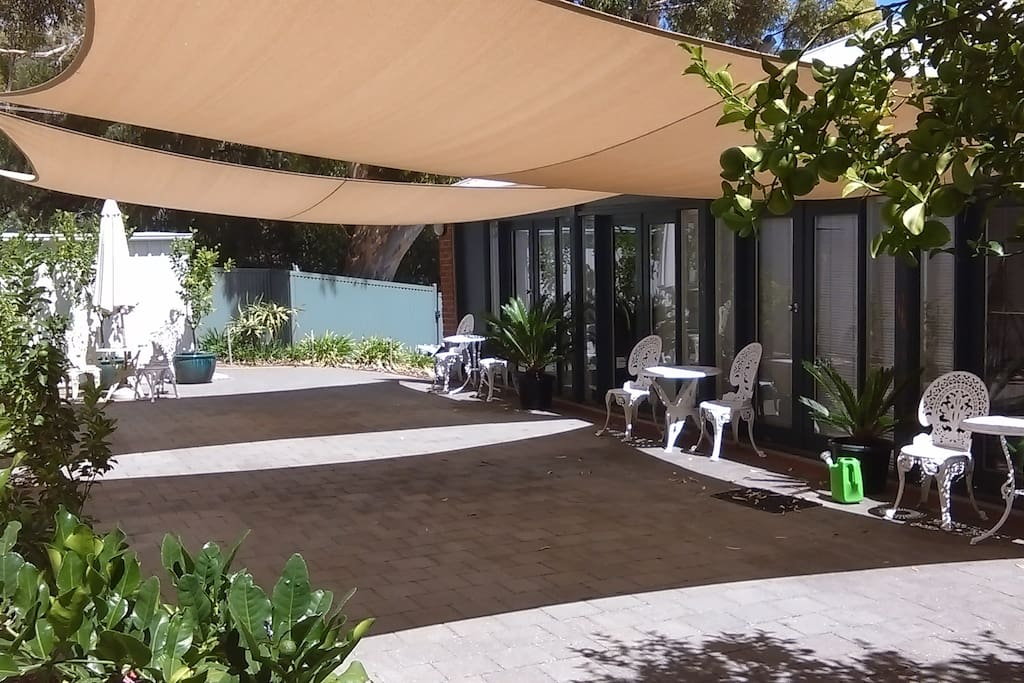 Private open shaded courtyard area.