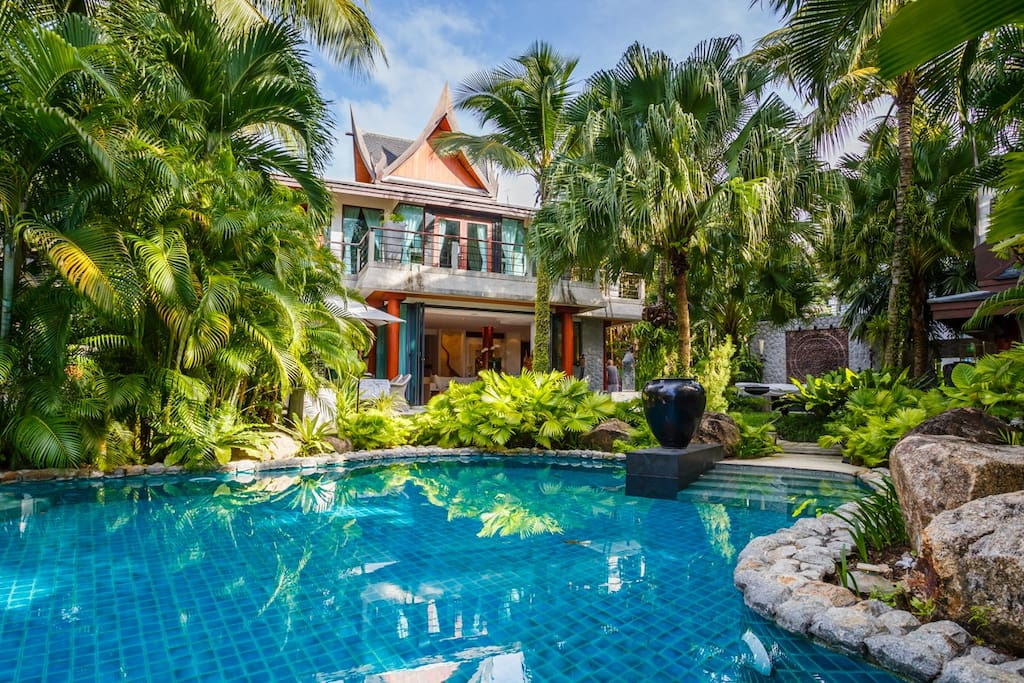 Enjoy a cool dip in the swimming pool with the main villa