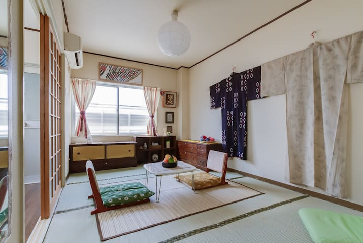 Tatami traditional room//clean&cozy - 大阪市 - Pis