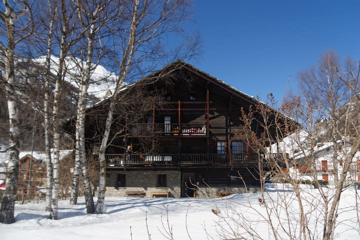 in casa walser vicina al centro. WF - Gressoney-Saint-Jean - Hus