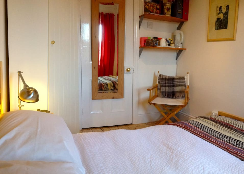 Small double room, tea, coffee and herbal drinks