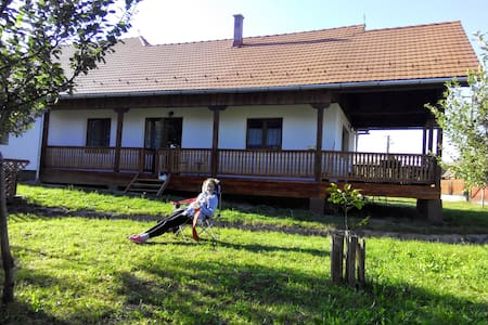 Family house with creek in the yard - Sântimbru