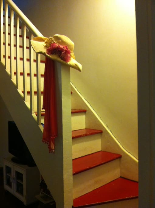 Victorian terrace staircase to the upper floor