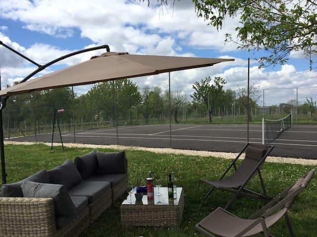 Maison de charme, piscine, tennis - Vielle-Tursan - Casa