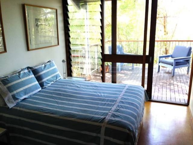 Main deck double bedroom with seperate toilet and shower