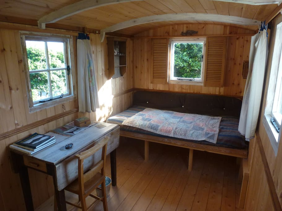 Interior showing pull out double bed