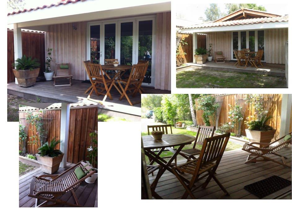 location saisonni re t2 chalets louer ar s aquitaine france. Black Bedroom Furniture Sets. Home Design Ideas