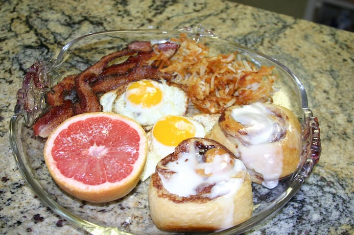 full breakfast with your room