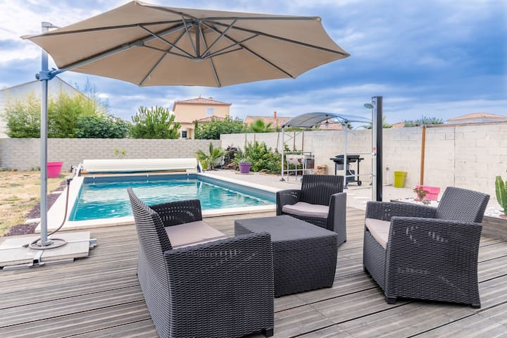 Villa avec piscine à 20 minutes de la plage - Nézignan-l'Évêque