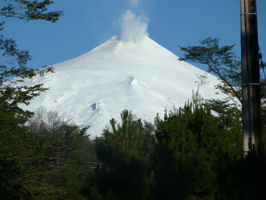 Hermosa vista al volcán