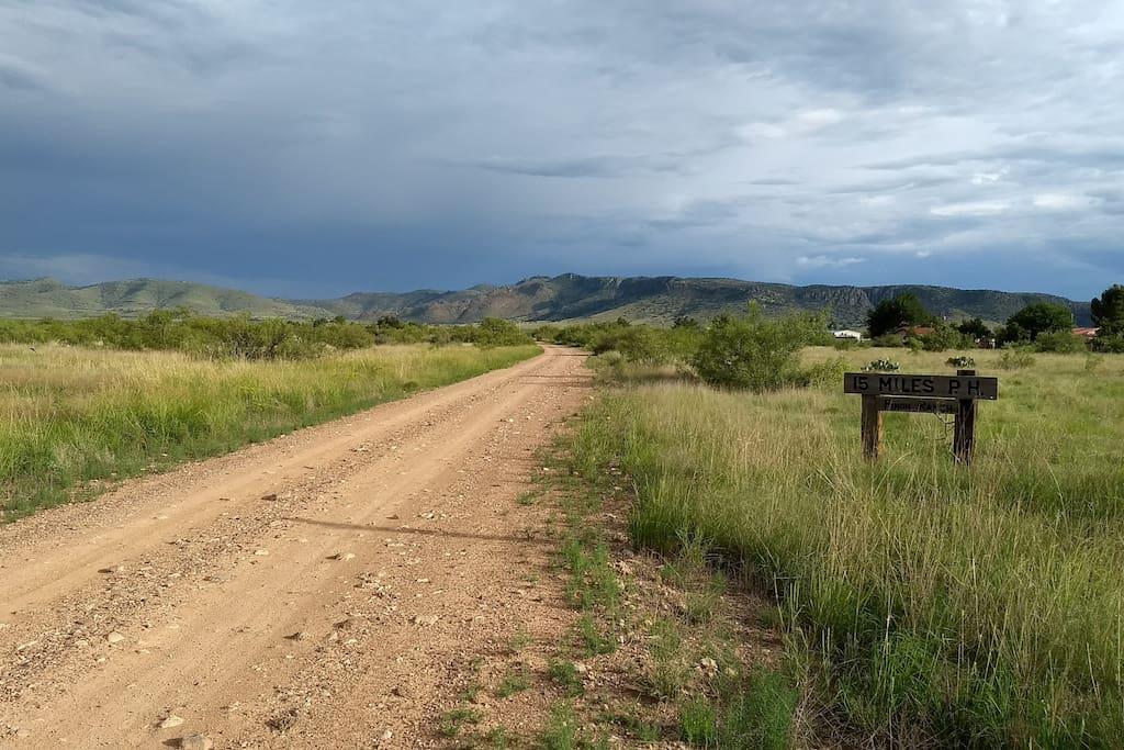 Summer storm at Piñon Ranch