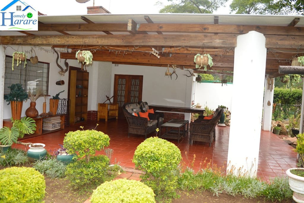 Easy and outdoor... A spacious verandah will give you an easy afternoon, easy hosting...