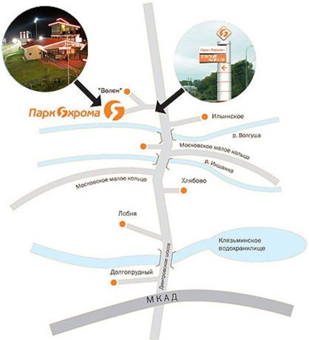 Схема проезда от Москвы до места нахождения дома