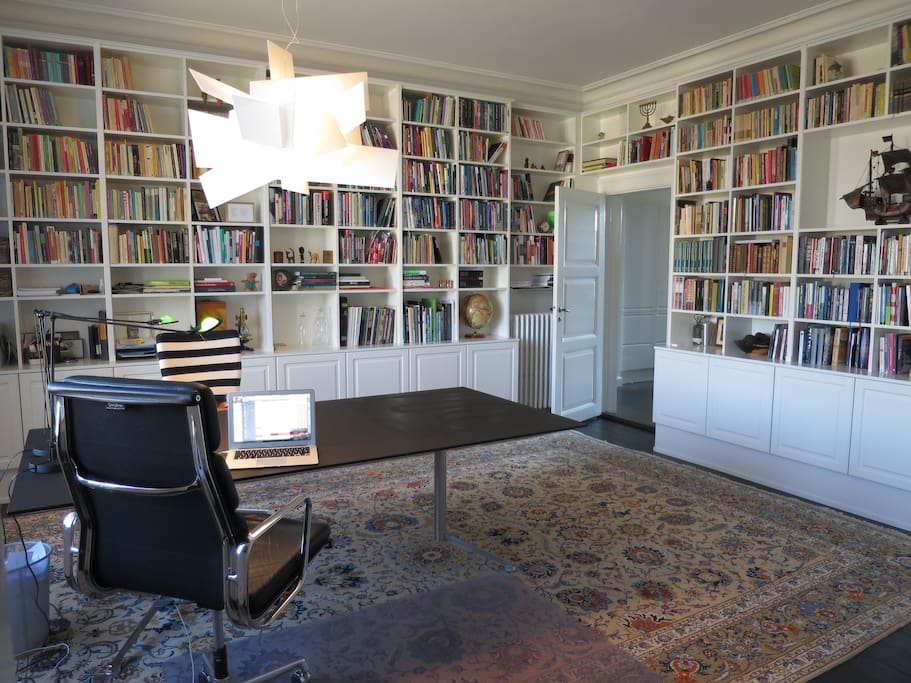 High ceilings in all rooms - this is our home office