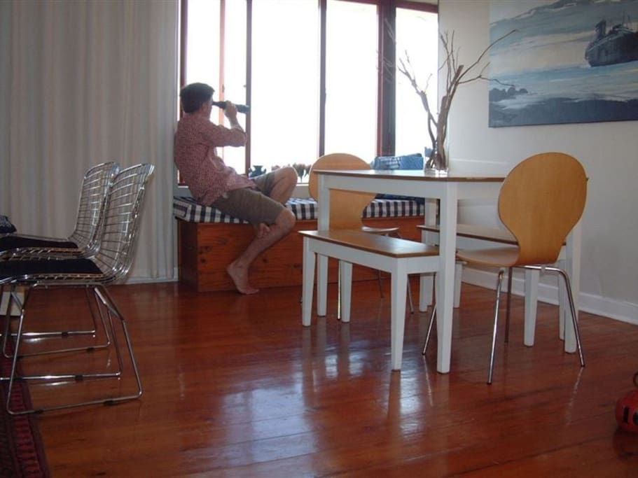 Dining room with sea views.
