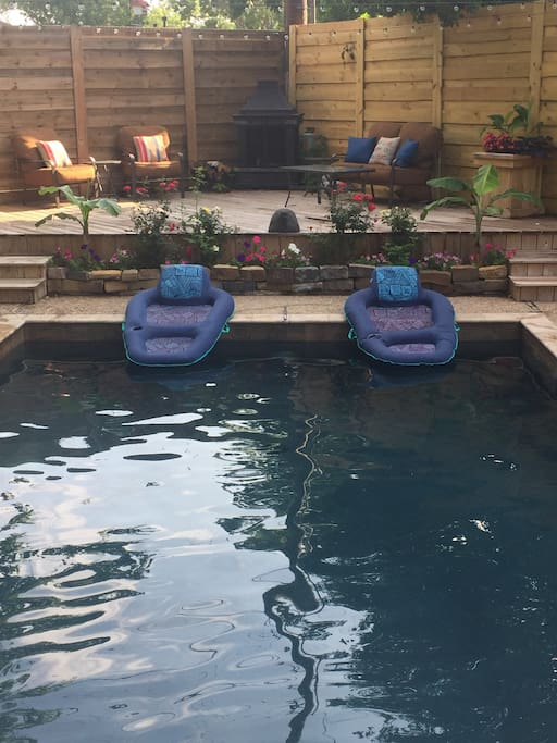 Pool and deck areas shared with homeowner