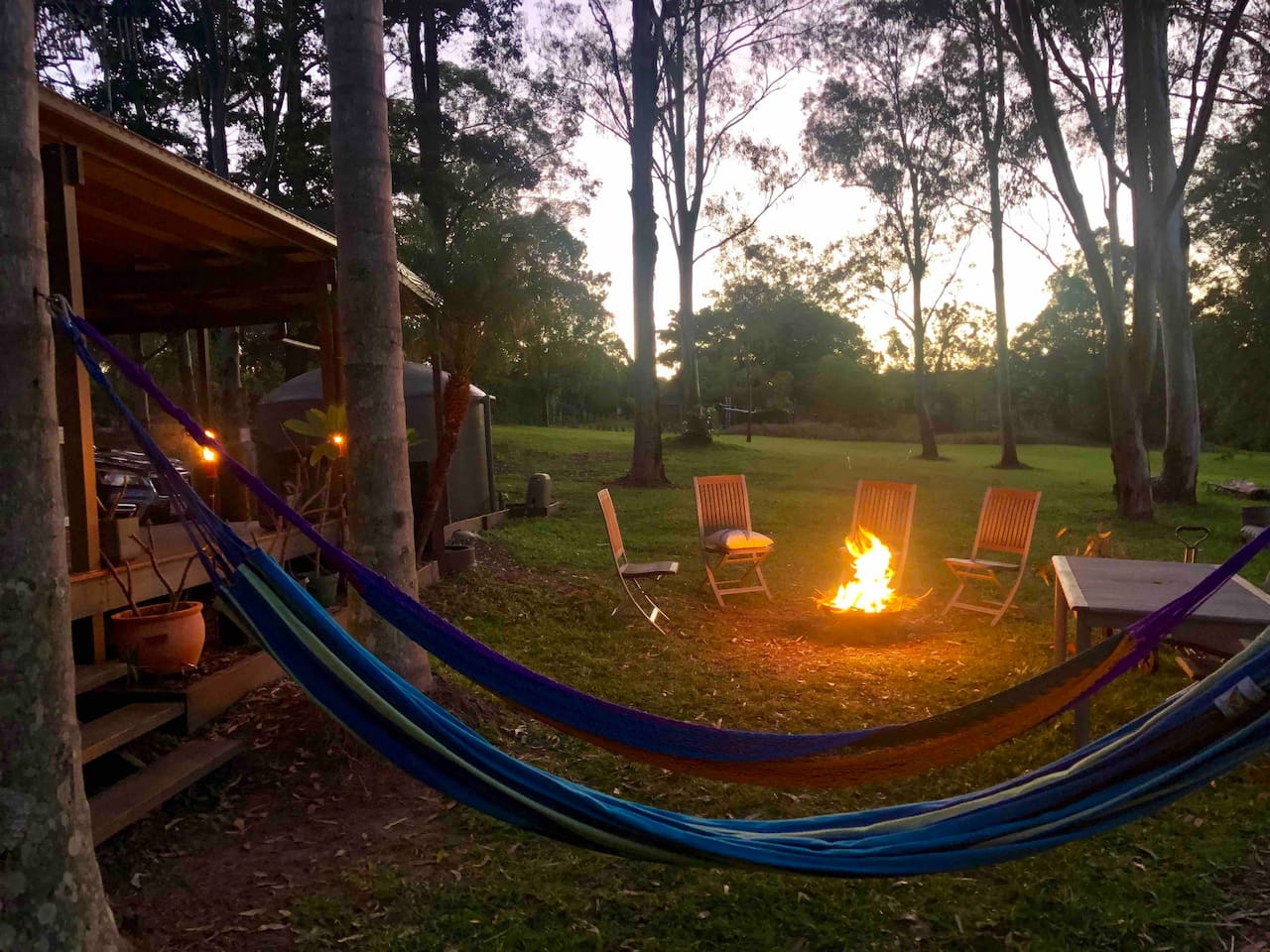 Sunset by the fire pit... perfect!