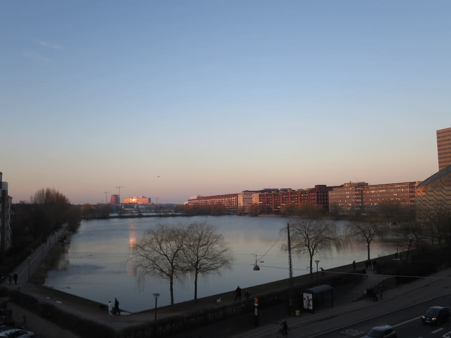 Evening view from your Copenhagen home