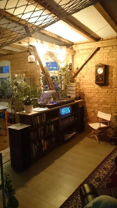 Wohnzimmer Musik-Ecke
