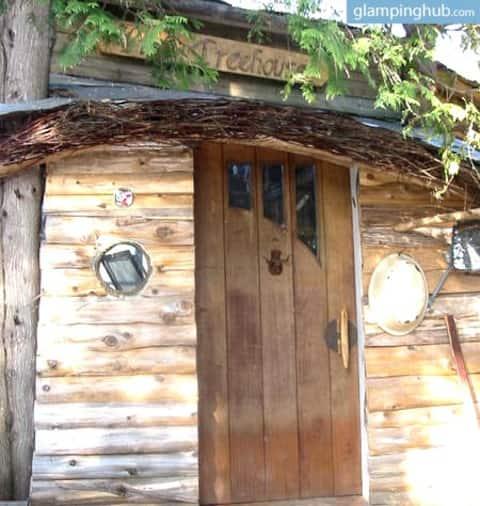 Eco-Friendly Waterfront Treehouse,winter wonderlan