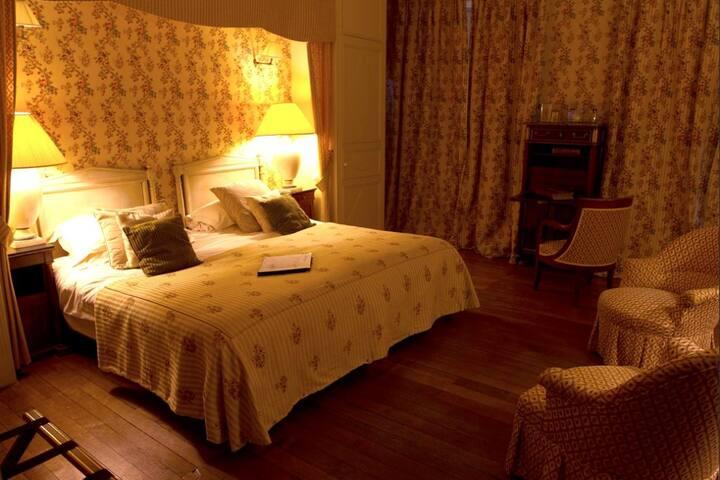Chambre château privé vallée Loire