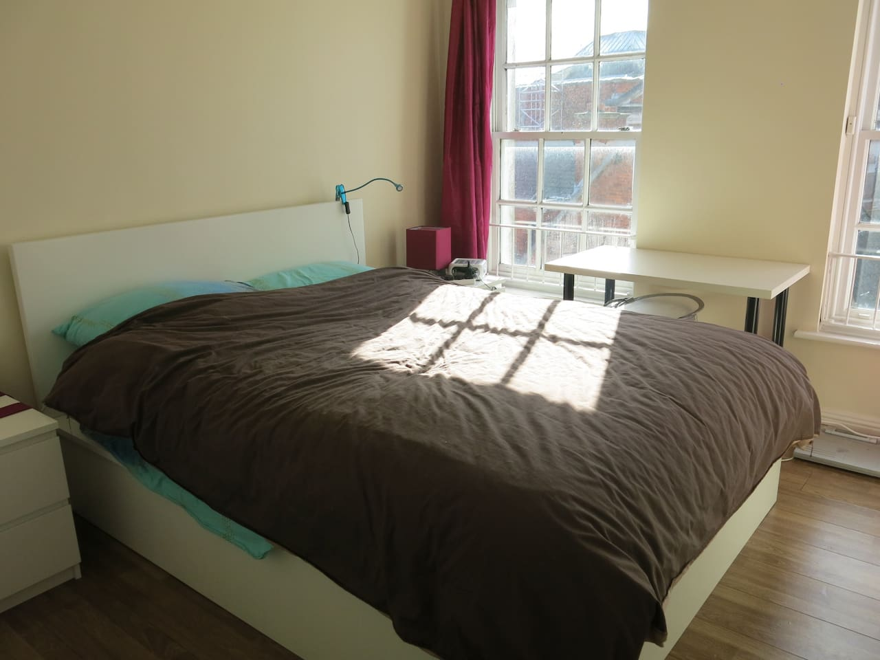 Lovely double Bedroom, South-West facing overlooking the historic Iveagh Markets.