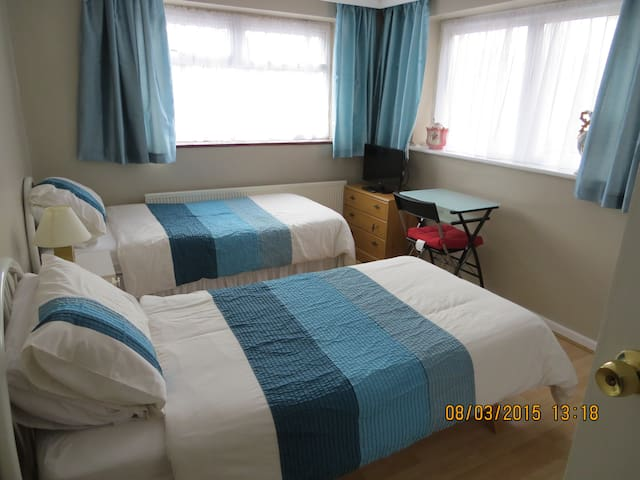 Bright Comfortable Twin Room - Londres - Casa